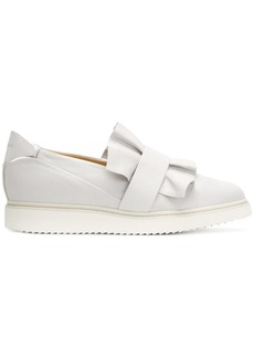 Geox frilled design flat loafers - Grey