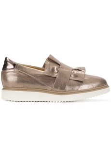 Geox frilled design flat loafers - Nude & Neutrals