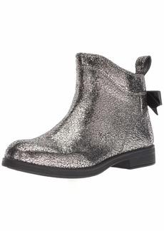 Geox Girls' Agata 24 Metallic Zip Ankle Boot