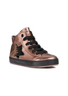 Geox Kalispera Metallic High Top Sneaker (Toddler Kid, Little Kid & Big Kid)