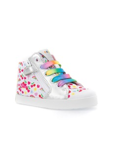 Geox Kilwi Patterned High Top Sneaker (Walker & Toddler)