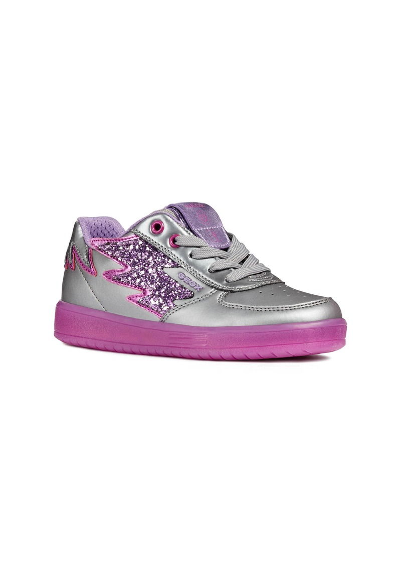Geox Kommodor Glitter Light Up Sneaker (Toddler Kid, Little Kid & Big Kid)