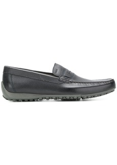 Geox logo embossed loafers - Blue