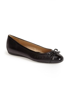 Geox 'Lola 16' Cap Toe Ballet Flat (Women)