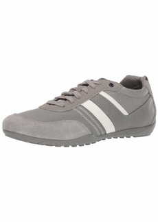 Geox Men's GARLAN 1 LACE UP Sneaker Light PST Grey 43 Medium EU ( US)