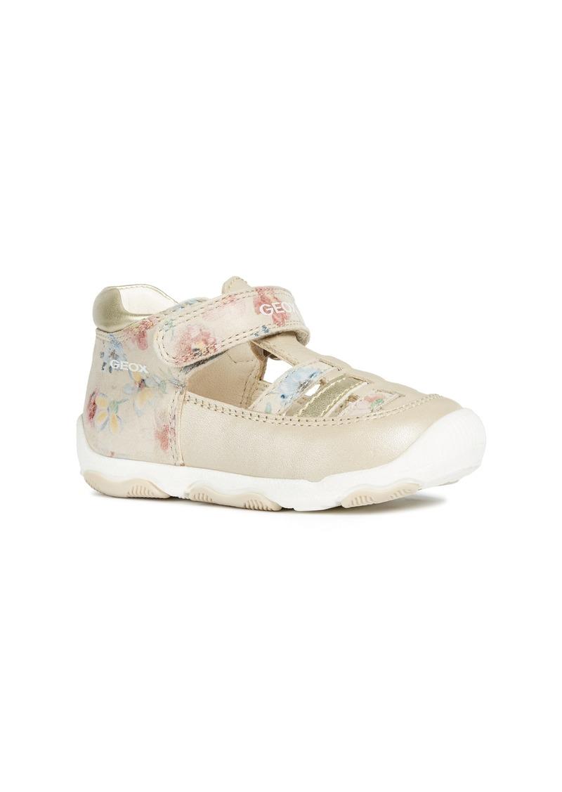 Geox New Balu Metallic Sandal (Baby, Walker & Toddler)