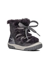 Geox Omar Lace Up Boot with Faux Fur Trim (Walker & Toddler)