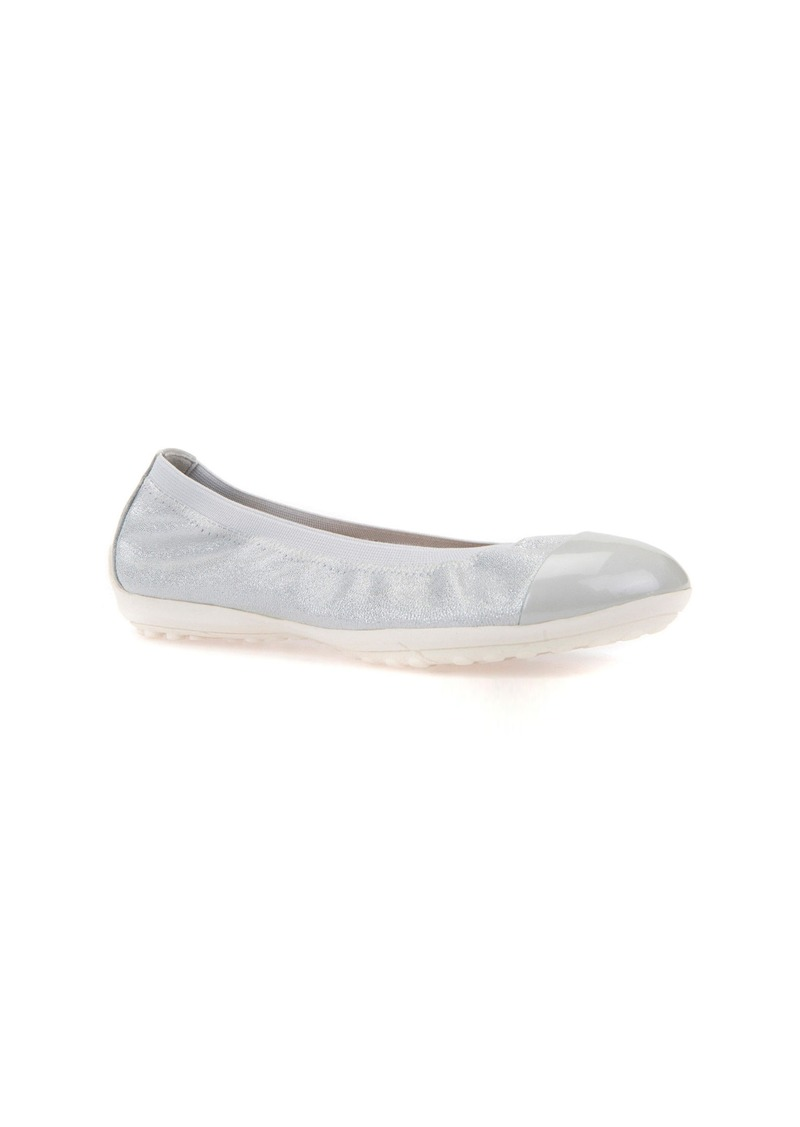 Geox Piuma Cap Toe Glitter Ballerina Flat