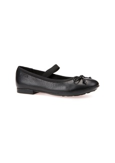 Geox Plie Leather Ballet Flat (Toddler, Little Kid & Big Kid)