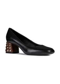 Geox Seyla Leather Block Heel Pump (Women)