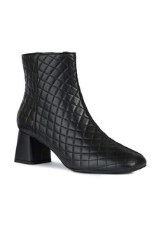 Geox Seyla Quilted Statement Heel Bootie (Women)