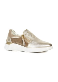 Geox Therago Metallic Zip Sneaker (Women)