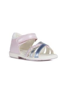 Geox Verred 24 Metallic Sandal (Walker & Toddler)