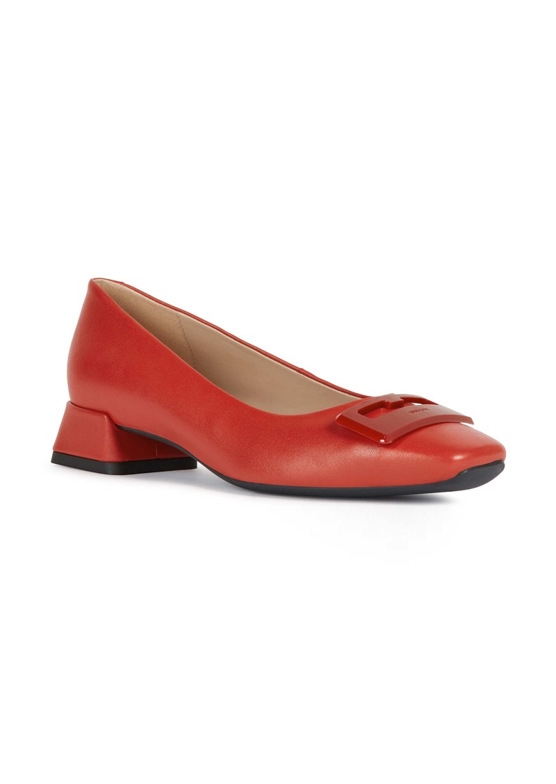 Geox Vivyanne Square Toe Loafer Pump (Women)