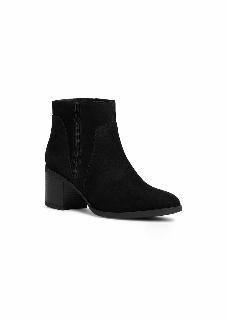 Geox Women's New Asheel 1 Suede Zip Ankle Boot with Warm Lining Blk  3 M EU ( US)