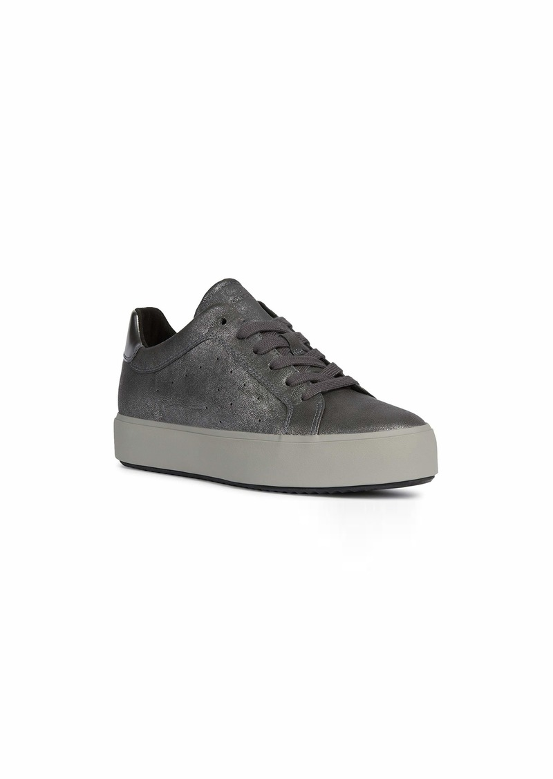 Geox Women's Woman Blomiee High 2 Metallic Fashion Sneaker Blk EU/ Black CHARC1 40 M EU ( US)