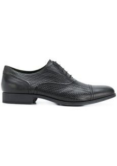 Geox woven oxford shoes - Black