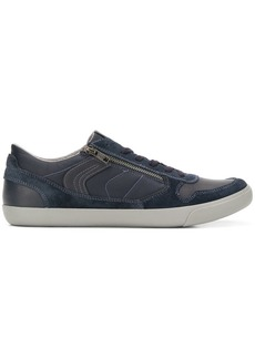 Geox lace-up zipped flat sneakers