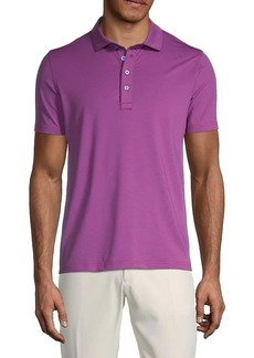 G/FORE Pinstriped Short-Sleeve Polo