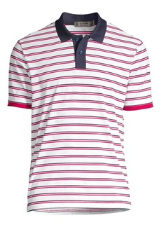 G/FORE Slim-Fit Perforated Striped Polo
