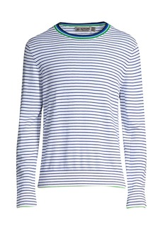 G/FORE Striped Crew-Neck Sweater