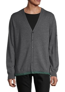 G/FORE V-Neck Wool Cardigan