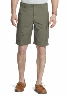 G.H. Bass & Co. Men's Ripstop Stretch Cargo Short Army dust