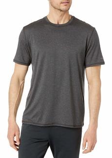 G.H. Bass & Co. Men's Short Sleeve Stretch Performance Crewneck Solid T-Shirt