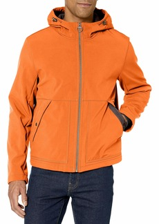 G.H. Bass & Co. Men's Water Resistant Performance Softshell Hooded Jacket