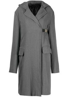 Gianfranco Ferré 1990s hooded knee-length coat