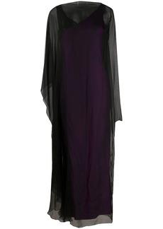 Gianfranco Ferré 1990s sheer overlay maxi dress