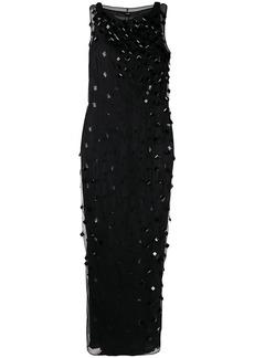 Gianfranco Ferré 1990s square crystal embellished dress