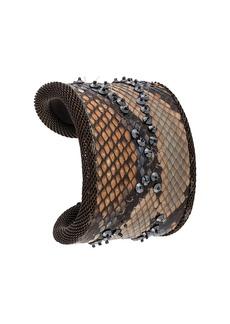 Gianfranco Ferré 2000s bead-embellished bangle