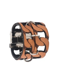 Gianfranco Ferré 2000s cut-out chain style bracelet