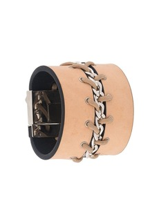 Gianfranco Ferré 2000s lace-up chain bracelet
