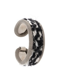 Gianfranco Ferré 2000s woven panel bangle