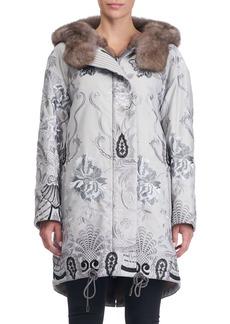 Gianfranco Ferré Reversible Fur-Lined Embroidered Stroller Coat