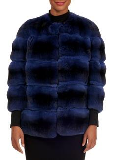 Gianfranco Ferré Horizontal Chinchilla Fur Jacket