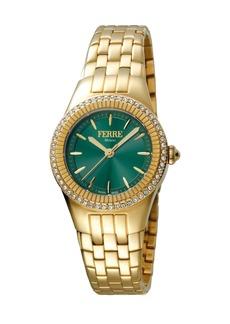 Gianfranco Ferré Women's 30mm Stainless Steel 3-Hand Glitz Watch with Bracelet