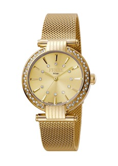 Gianfranco Ferré Women's 34mm Stainless Steel 3-Hand Glitz Milgrain Watch with Bracelet