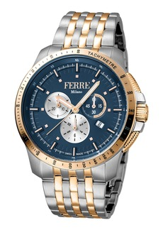 Gianfranco Ferre Men's 45mm Stainless Steel Tachymeter Diver Watch with Bracelet