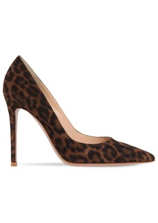 Gianvito Rossi 105mm Gianvito Leopard Print Suede Pumps