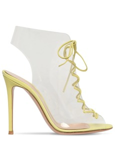 Gianvito Rossi 105mm Helmut Leather & Plexi Ankle Boots