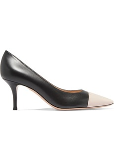 Gianvito Rossi 70 Two-tone Leather Pumps