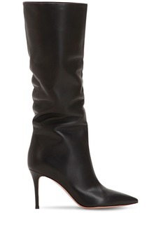 Gianvito Rossi 85mm Slouchy Nappa Leather Boots