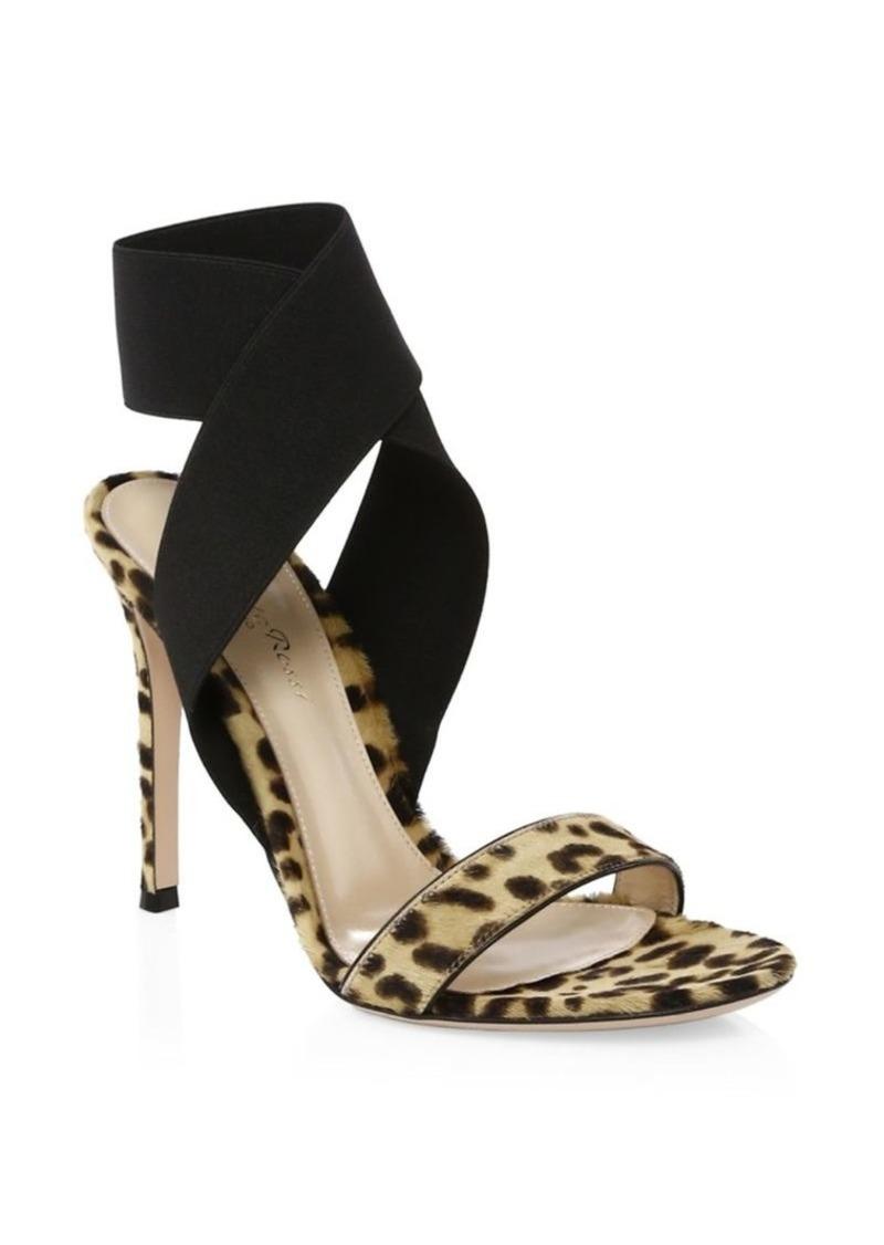 ce4753bfaff1 Gianvito Rossi Calf Hair Crisscross Ankle-Strap Sandals