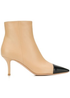Gianvito Rossi contrast toe ankle boots