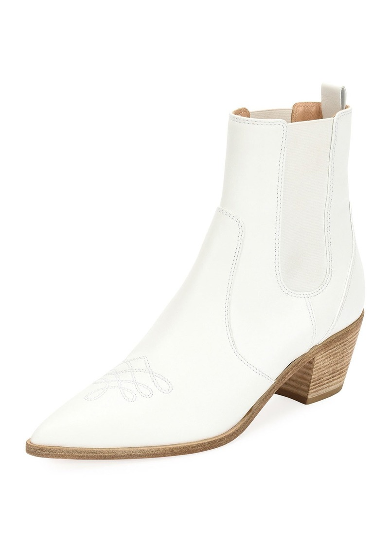 f417fbb25 Gianvito Rossi Embroidered Leather Western Ankle Boots | Shoes