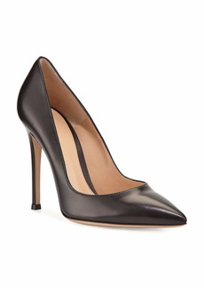 Gianvito Rossi Gianvito 105mm Leather Pump  Black