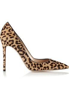 Gianvito Rossi 105 Leopard-print Calf Hair Pumps